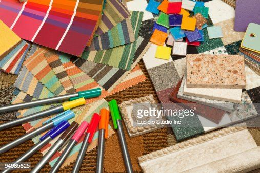 Interior Design Swatch Samples Stock Photo Getty Images