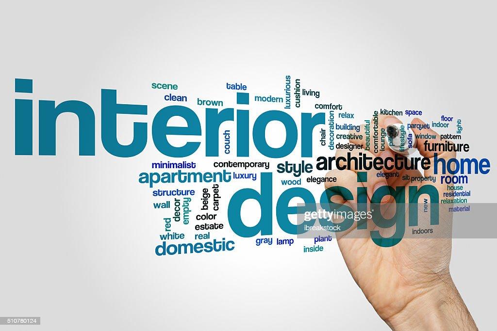 Amazing Interior Design Word Cloud Concept : Stock Photo