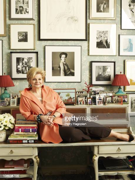 Interior Designer And Author Charlotte Moss Poses At A Portrait Session For Town Country Magazine On