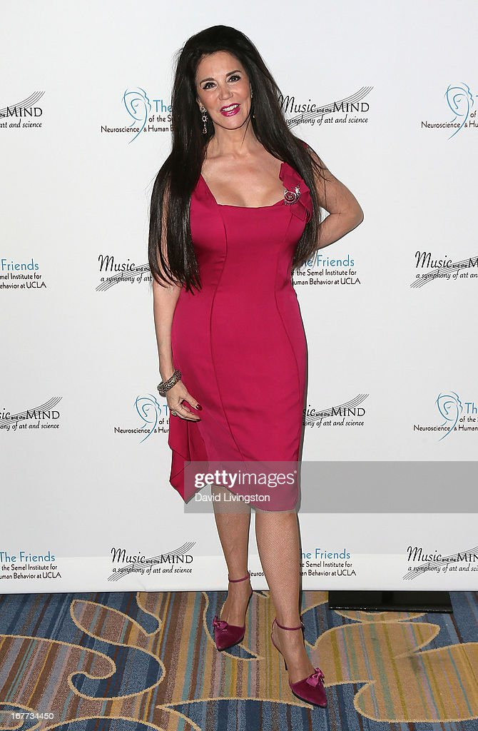 Interior designer Barbara Lazaroff attends the Friends of the Semel Institute for Neuroscience & Human Behavior at UCLA's Inaugural Music and the Mind gala at the Regent Beverly Wilshire Hotel on April 28, 2013 in Beverly Hills, California.