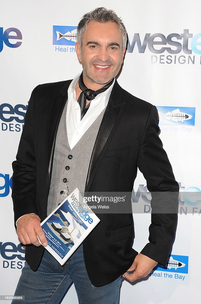 Interior designer Martyn Lawrence Bullard attends the WestEdge Design Fair opening night benefiting Heal the Bay at Barker Hangar on October 3, 2013 in Santa Monica, California.