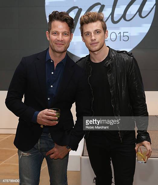 Interior designer Nate Berkusand Jeremiah Brent attend Up2Us Sports to Celebrate 5 Years Of Change Through Sports on June 3 2015 in New York City