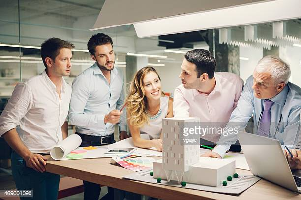 Interior Designers and architects expertise architectural model in the office.
