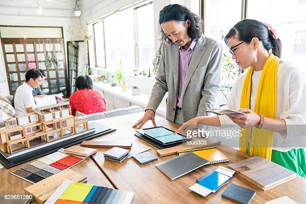 Interior designers working in an architectural firm