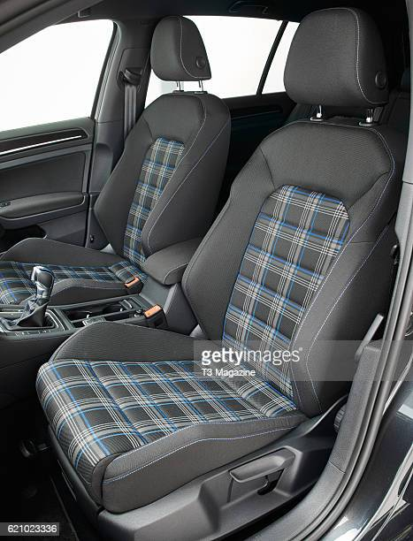 Interior detail of a Volkswagen Golf GTE plugin hybrid car taken on February 10 2016