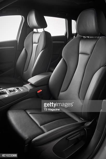 Interior detail of an Audi A3 etron plugin hybrid car taken on February 10 2016