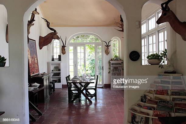 Interior dinning area Ernest Hemingway house Finca La Vigia near Havana Cuba