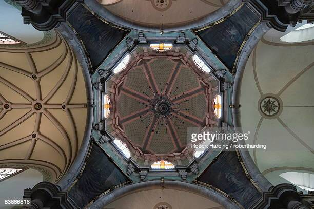 Interior dome of the church of  Iglesia de San Diego in Guanajuato, a UNESCO World Heritage Site, Guanajuato State, Mexico, North America