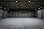 3d rendering interior empty factory
