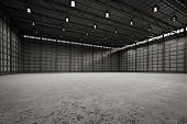 3d rendering interior empty factory