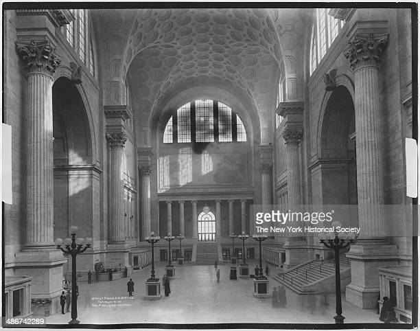 Interior entry hall and ticket office of Penn Station New York New York 1911