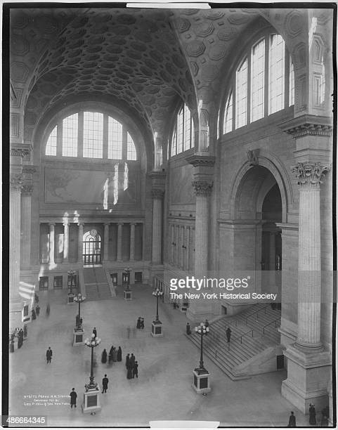 Interior entry hall and ticketing office of Penn Station New York New York 1911