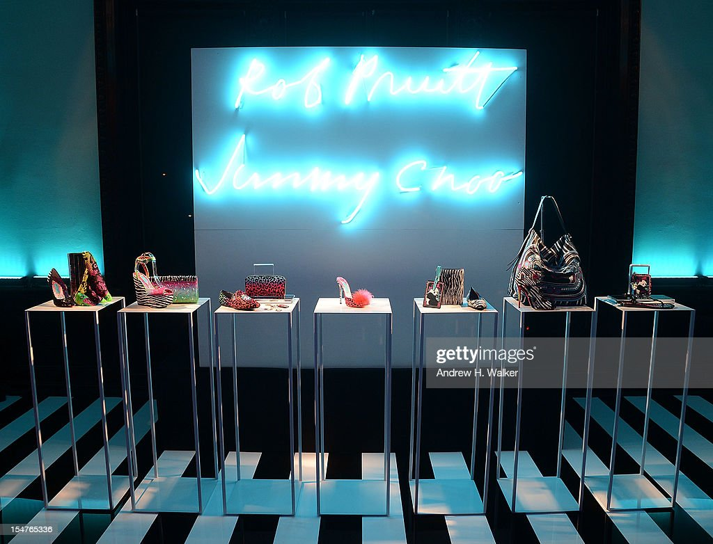 Interior general atmosphere during the Jimmy Choo and Rob Pruitt Collection Launch on October 25, 2012 in New York City.