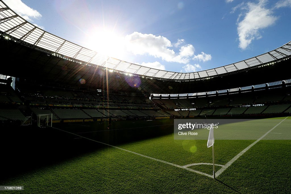 A interior general view of the Castelao stadium on June 18, 2013 in Fortaleza, Brazil on June 18, 2013 in Fortaleza, Brazil.