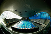 A interior general view of the competition pool on day five of the British Swimming Championships at the London Aquatics Centre on April 18 2015 in...