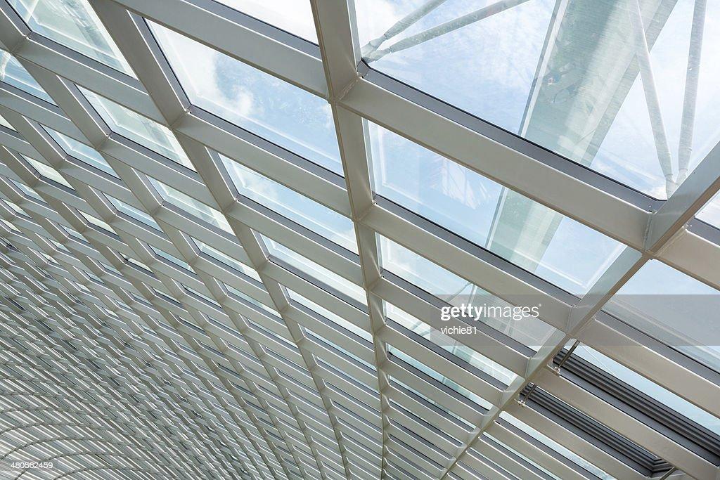 interior glass roof : Stock Photo