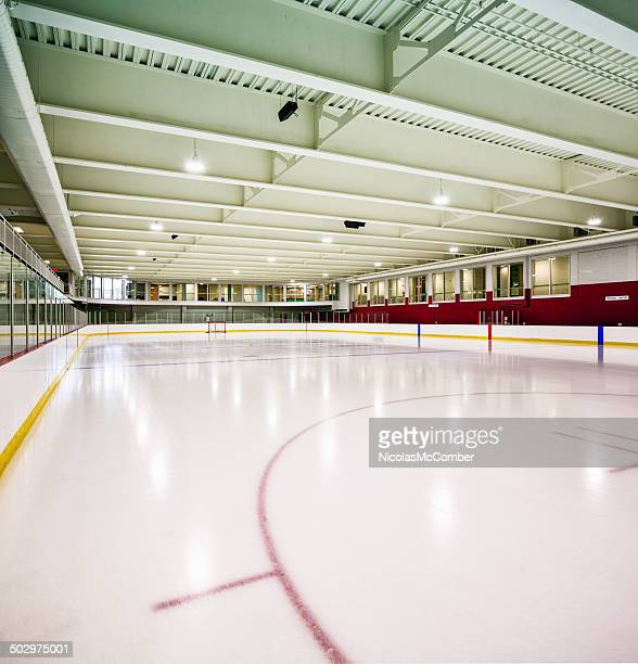 Interior hockey rink