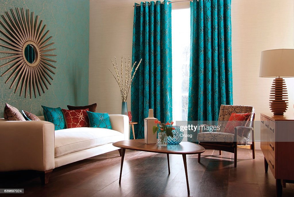 Interior image of a contemporary living room : Stock Photo