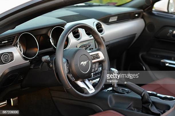 Interior in a modern cabriolet car