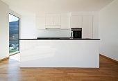 'beautiful new apartment, interior, kitchen'