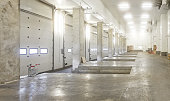 Concrete Interior Loading Dock in Distribution Warehouse