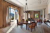 classical Interiors, luxury living room in a period mansion