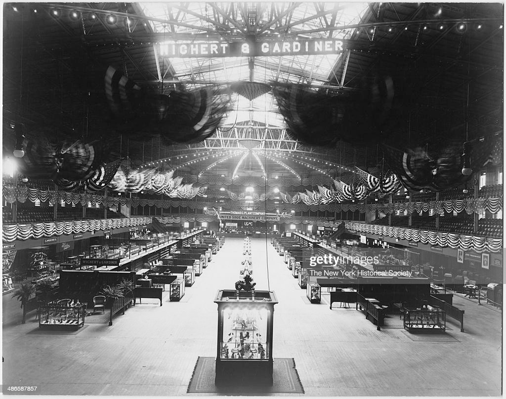 Interior Madison Square Garden, With Shoe Manufacturersu0027 Convention  Installed In Exhibition Hall, New