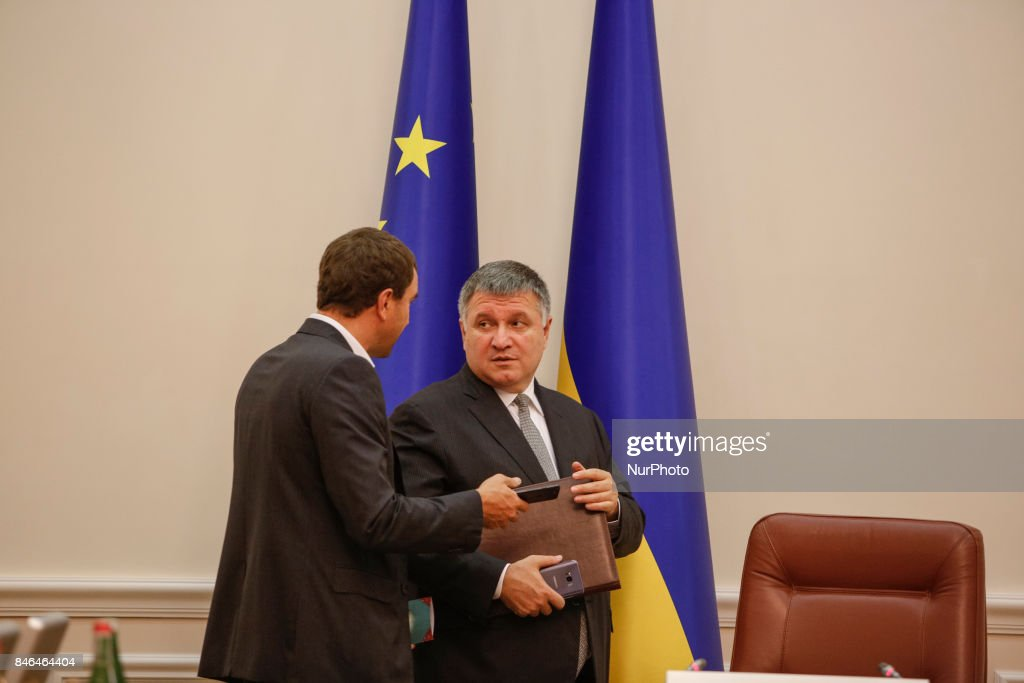 Interior Minister Arsen Avakov attends Ukrainian government gathered for its session in Kiev, Ukraine on September 13, 2017.