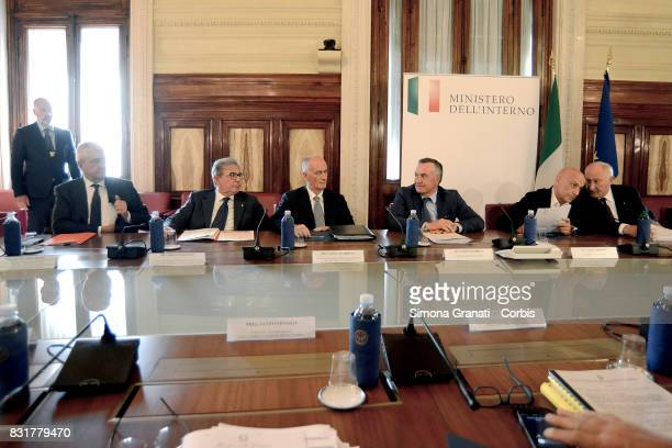Interior Minister Marco Minniti Chairs The National Public Order And Safety Committee on August 15 2017 in Rome Italy