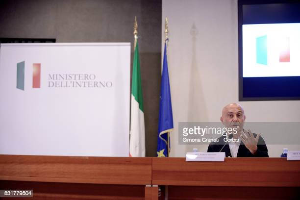 Interior Minister Marco Minniti during the press conference at the end of The National Public Order And Safety Committee on August 15 2017 in Rome...
