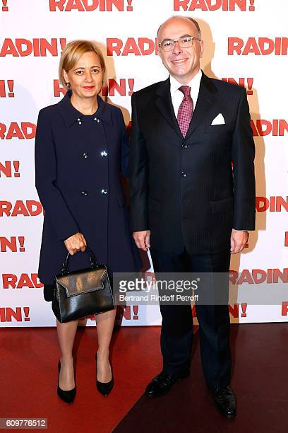 Interior Minister of France Bernard Cazeneuve and his wife Veronique attend the 'Radin' Paris Premiere at Cinema Gaumont Opera on September 22 2016...
