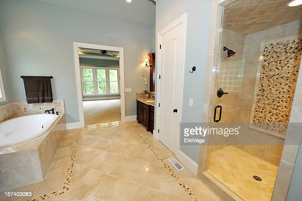 Interior modern bathroom decor