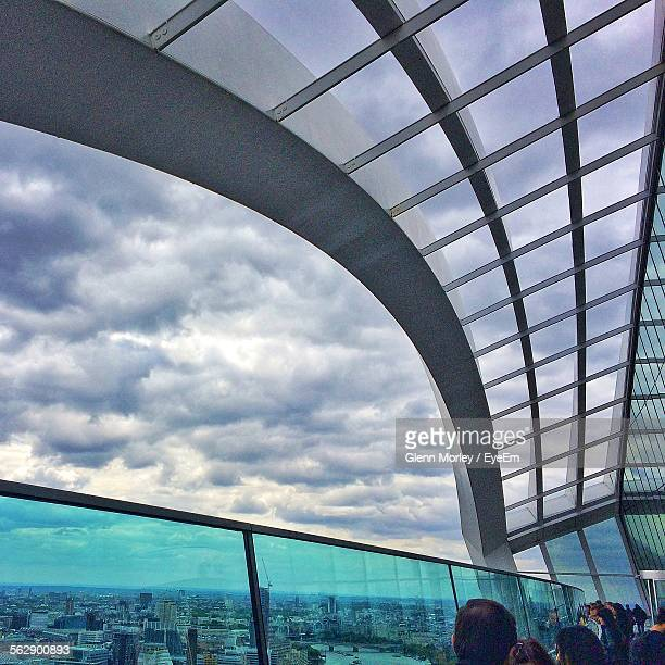 Interior Of 20 Fenchurch Street Against Cloudy Sky