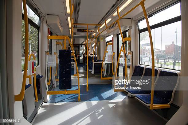 Interior of a Blackpool tram UK