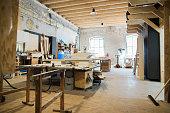 Interior of a carpenters workshop