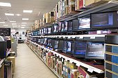 Interior of a electronics store