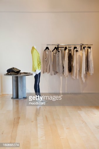 Interior of a fashionable clothes boutique