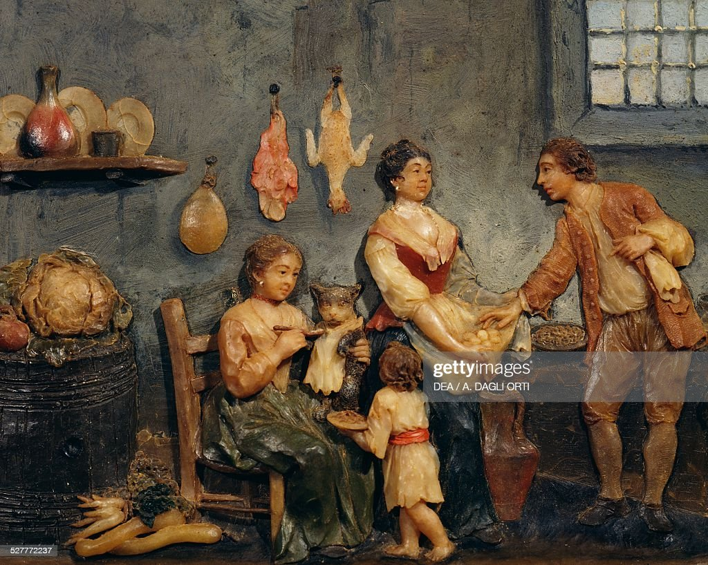 interior of a kitchen pictures getty images interior of a kitchen wax relief neapolitan folk art italy 18th century