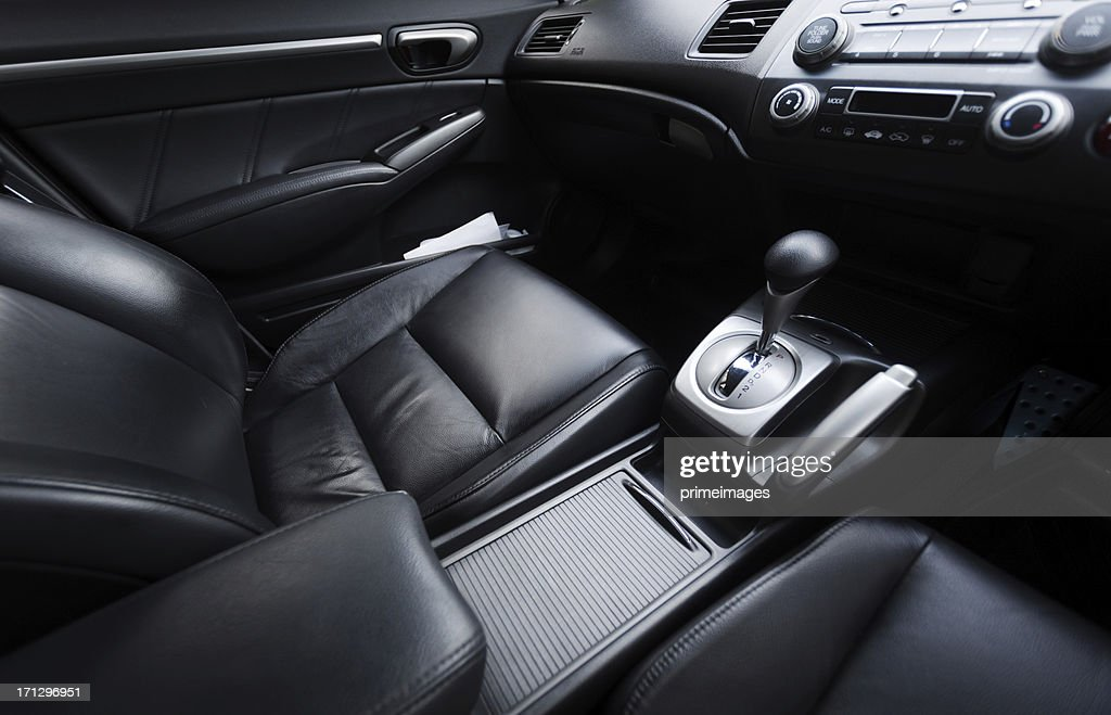 Interior of a modern car