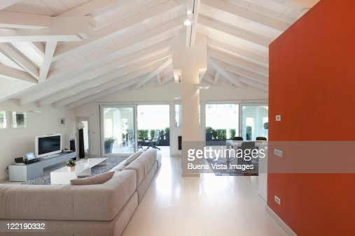 Interior of a modern Italian home : Stock Photo