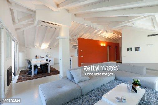 Interior of a modern Italian home : Stock Photo