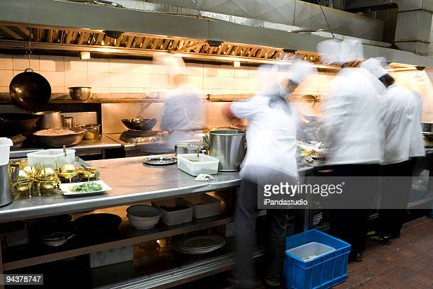 Interior of a restaurant kitchen