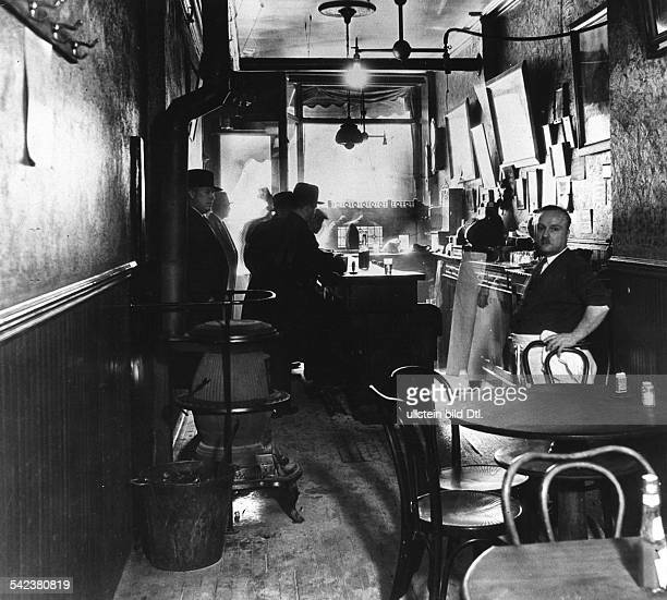 NEW YORK SPEAKEASY 1932 Interior of a speakeasy during Prohibition on the East Side of New York Photographed 1932
