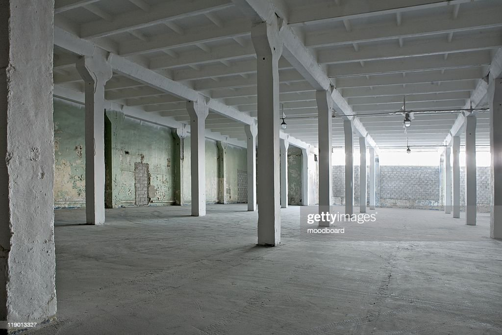 Interior of a warehouse : Stock Photo