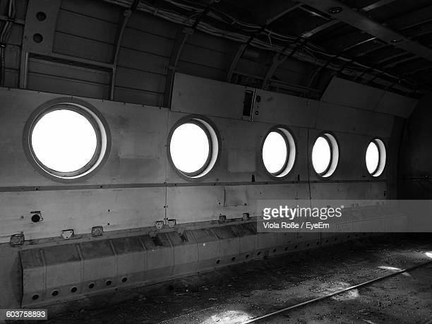 Interior Of Abandoned Military Airplane