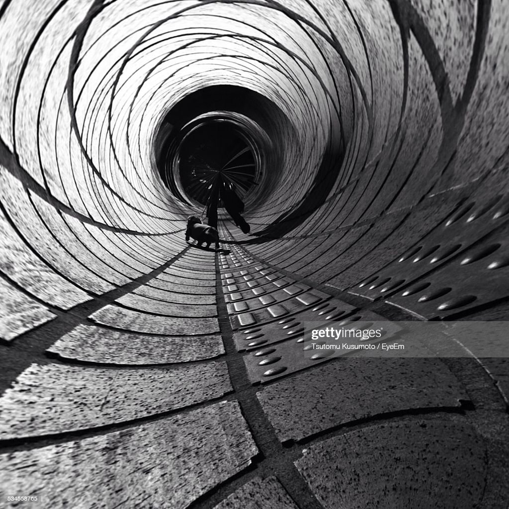 Interior Of Abstract Tunnel
