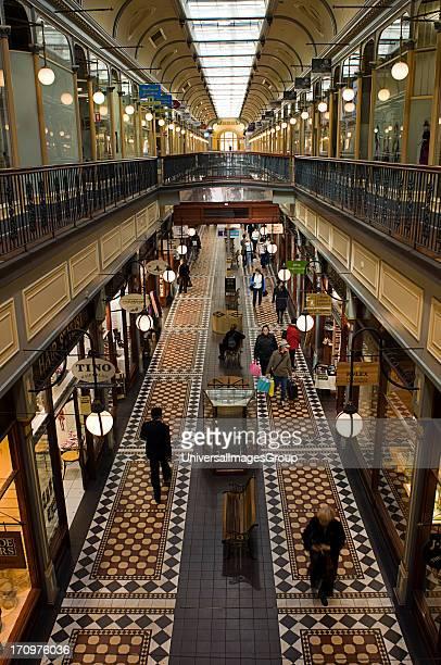 Interior of Adelaide Arcade Adelaide South Australia SA Australia