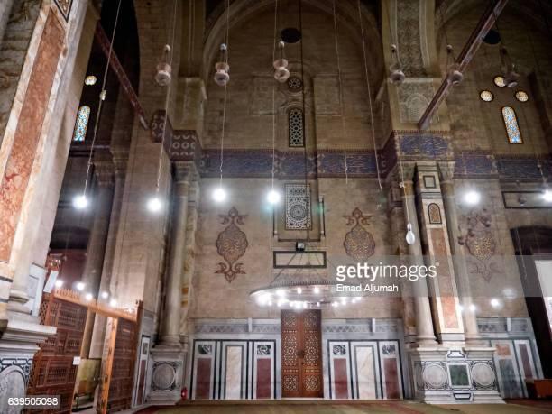 Interior of Al Rifai Mosque in Cairo, Egypt
