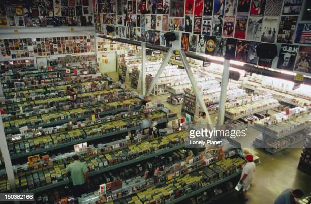 Interior of Amoeba Music, Hollywood.