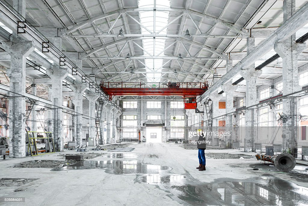 interior of an industrial building